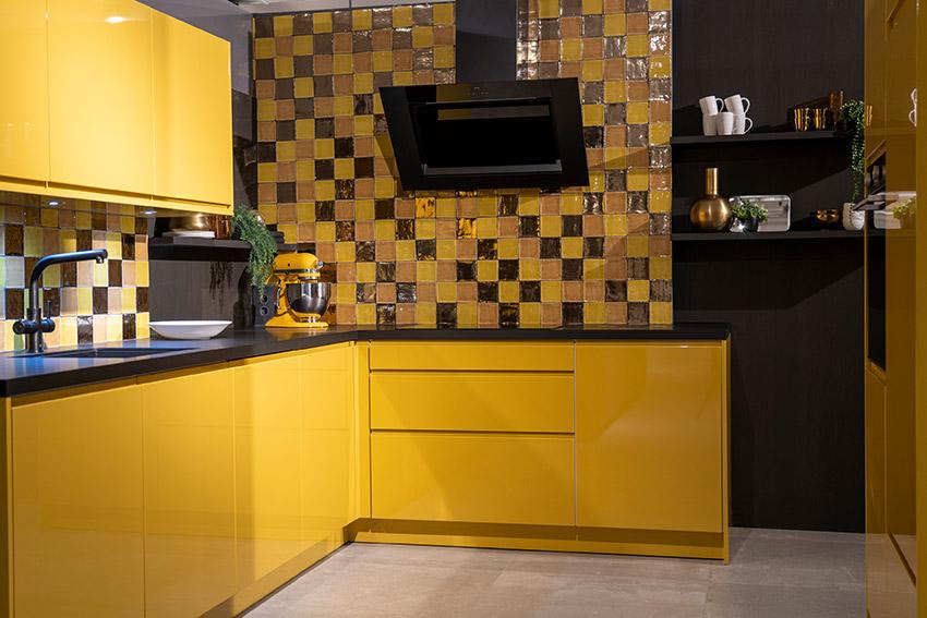 Gele keukendeurtjes