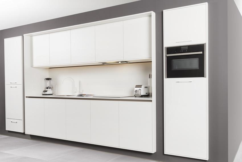 grijze design keuken