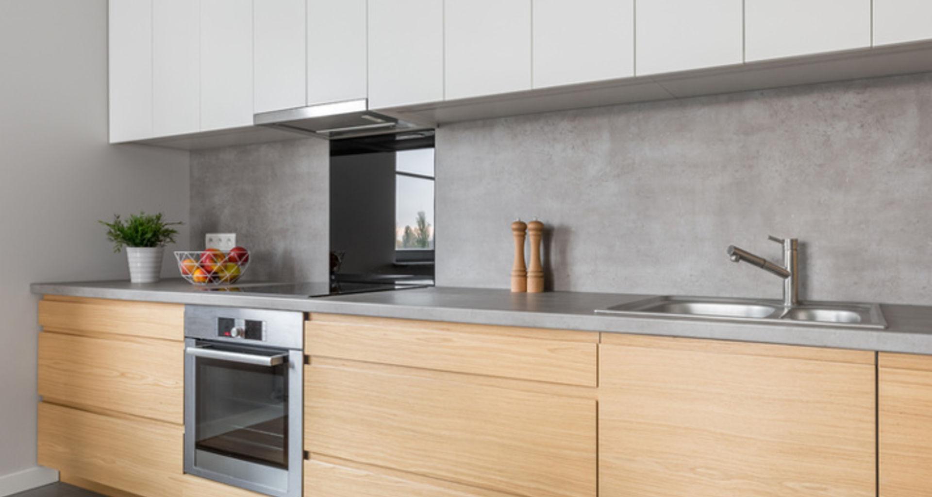 Keuken met betonnen werkblad