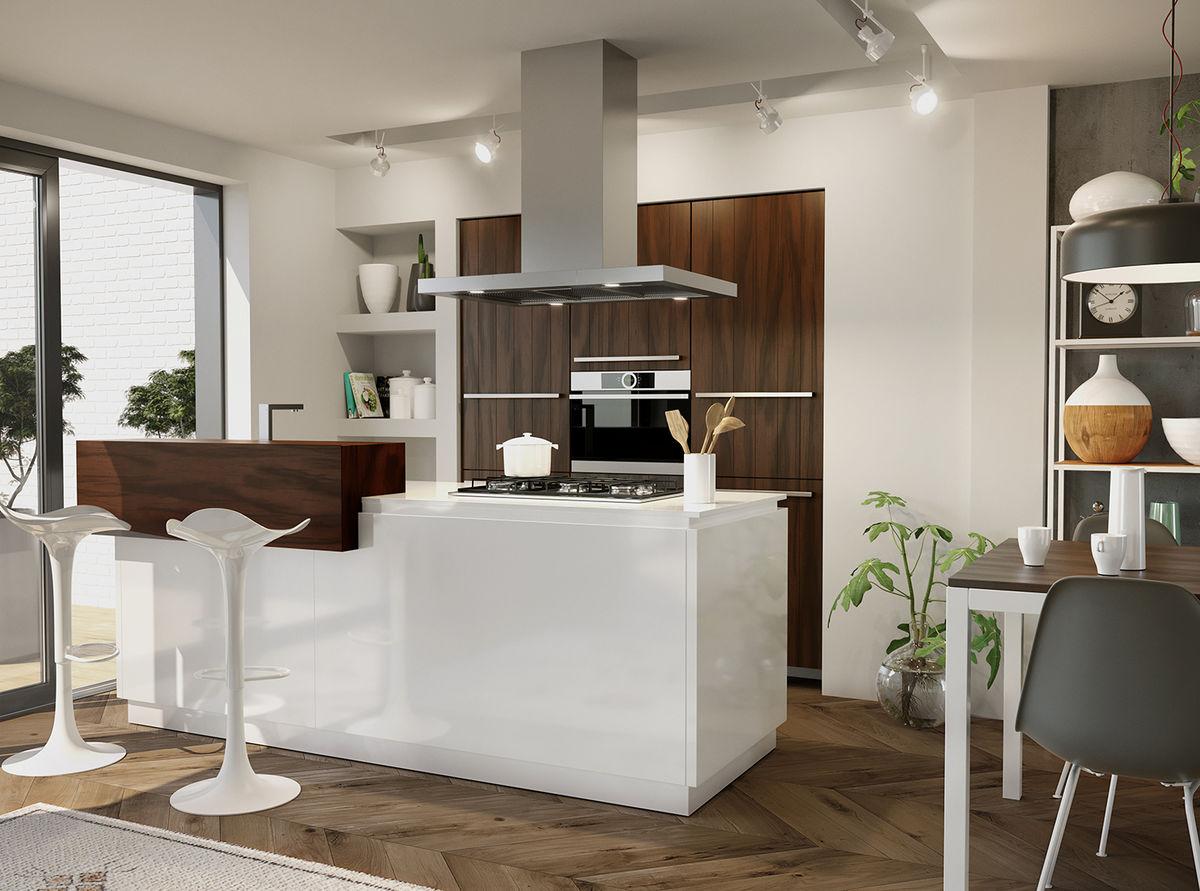 Witte Keuken Voordelen : De warme sfeer van een houten keuken tulp keukens