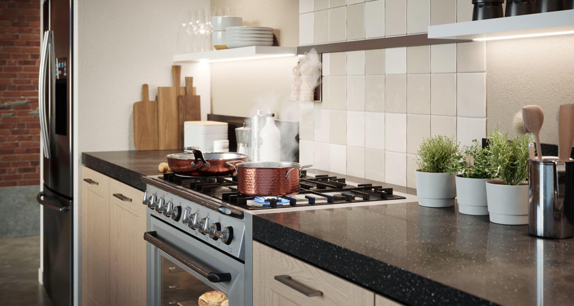 Keuken met marmer