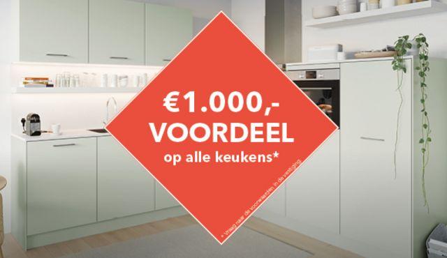 1.000 euro voordeel