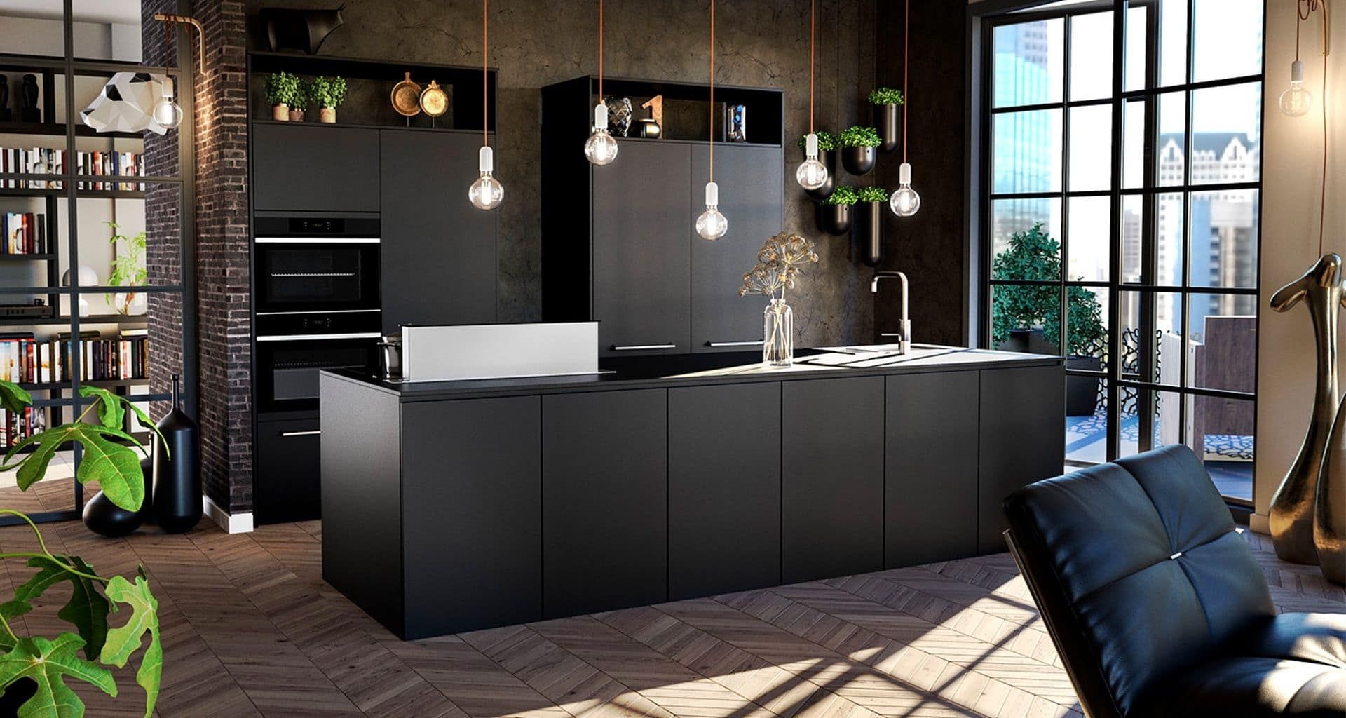 zwarte keukens van Tulp Keukens