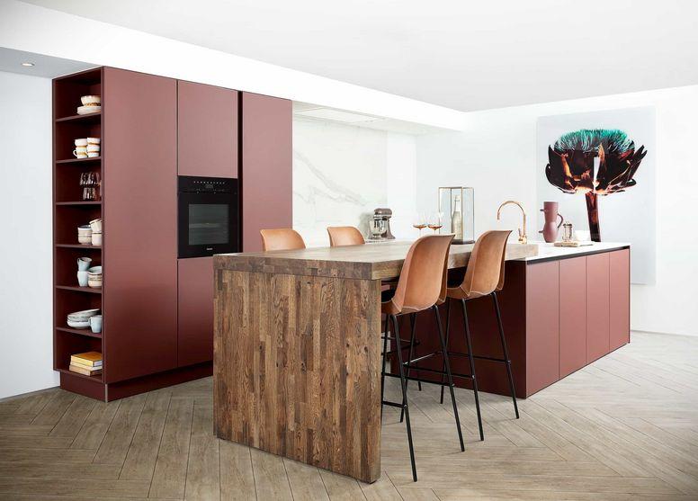 keuken fenix hout marmer
