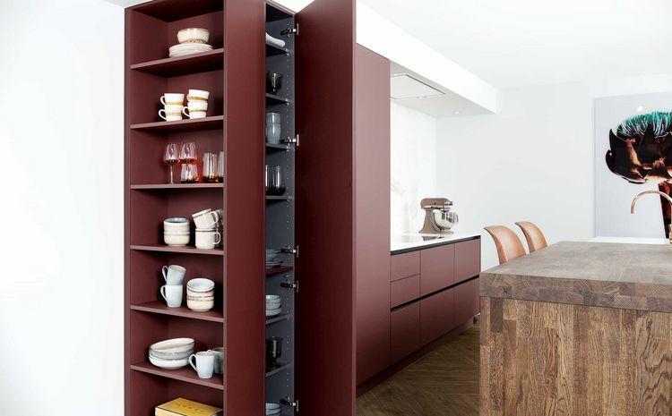 fenix keuken rood
