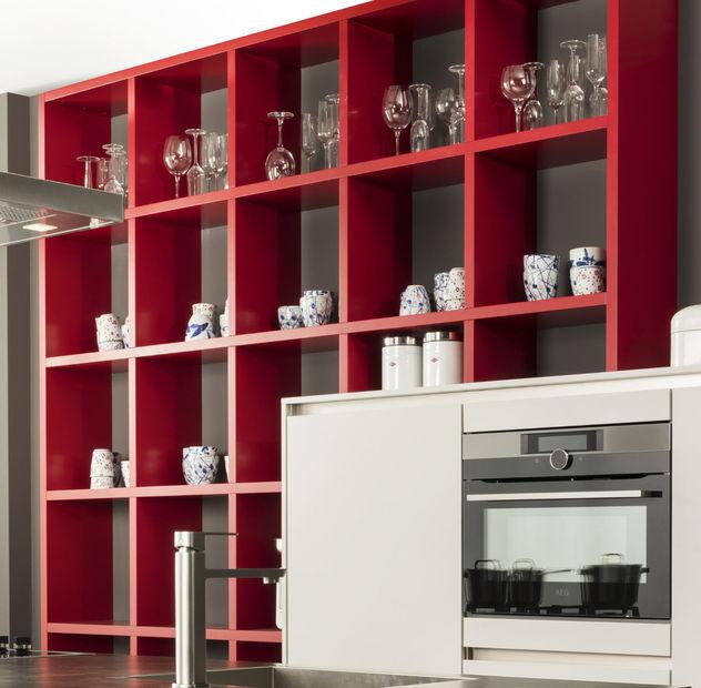 rode keukenkastjes