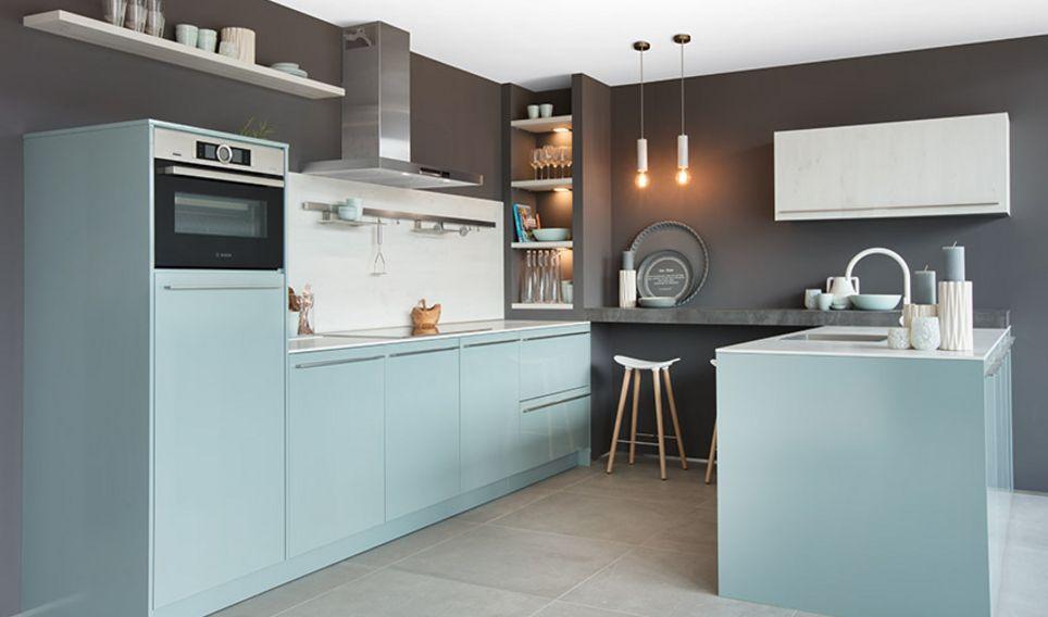 keuken lichtblauw