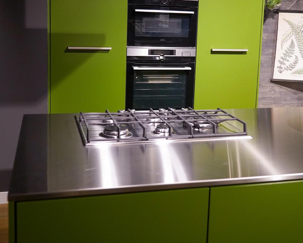 RVS keukenblad met gaskookplaat